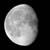three quarters moon