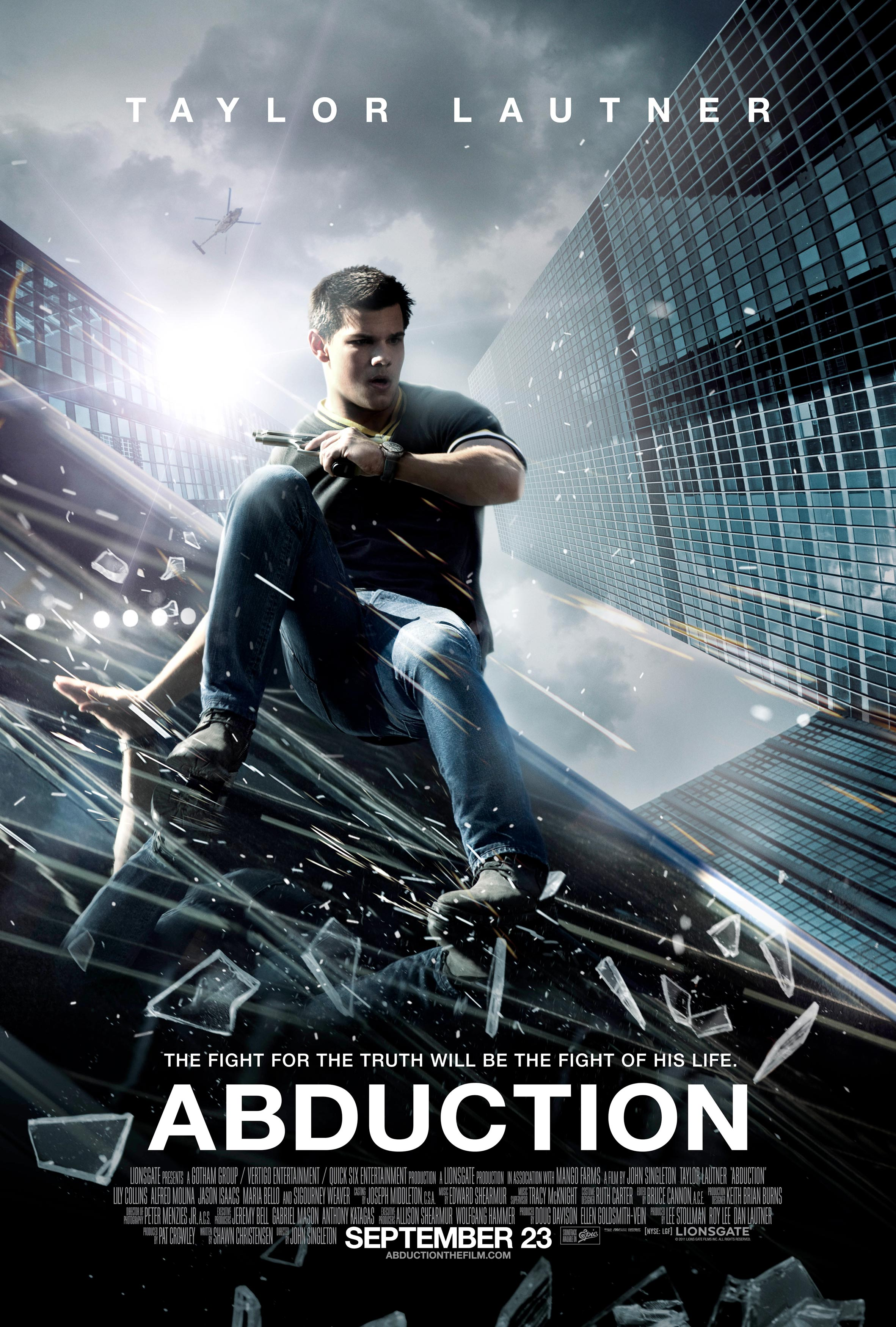 Abduction movie poster: negating Art and/or Science since ... Taylor Lautner Abduction