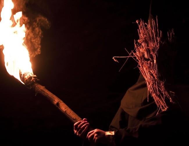 kill list torch mask sticks cult Fourteen Ounce Striped Baseball Pants