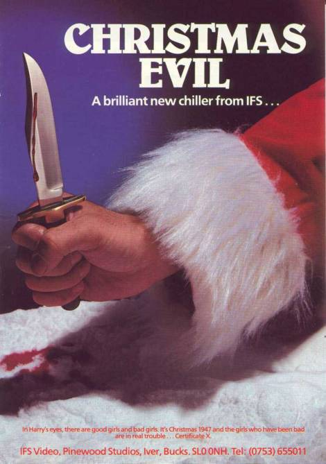 christmas evil movie poster you better watch out