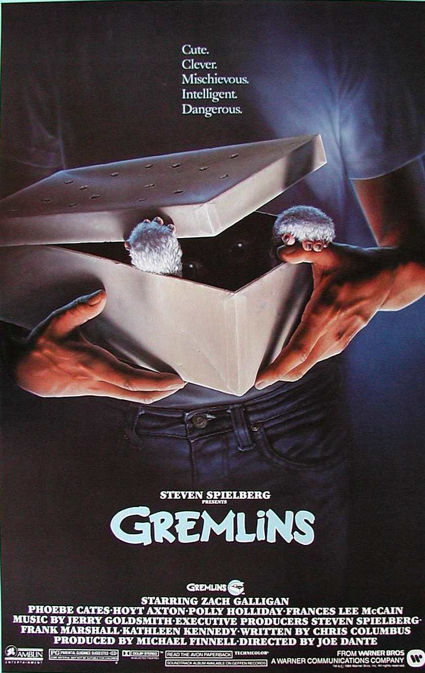 Gremlins Movie Poster 1984 The Wolfman Cometh