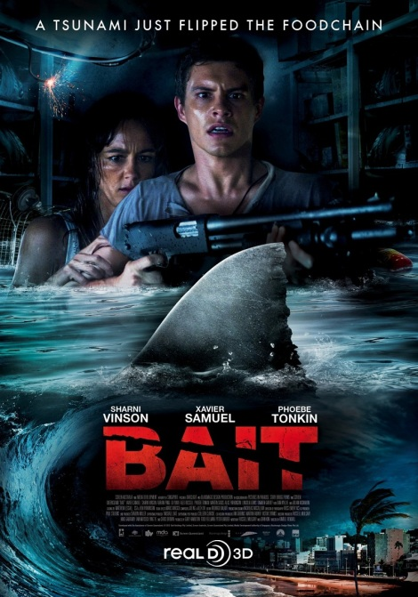 bait 3d movie poster sharks