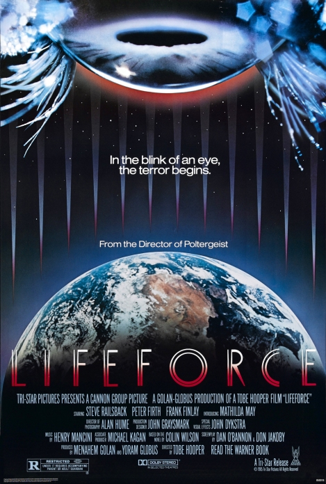 lifeforce movie poster tobe hooper 1985
