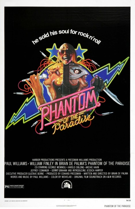 phantom of the paradise movie poster brian de palma
