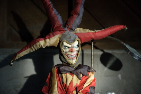 the hole movie jester puppet doll