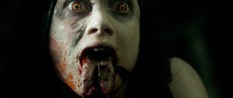 evil dead remake jane levy cut tongue knife