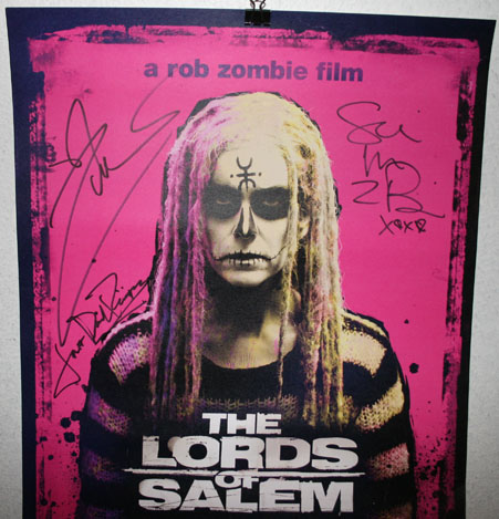 rob zombie lords of salem autograph