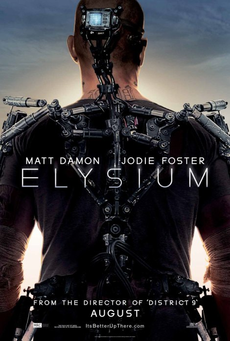 elysium movie poster 2013 matt damon tattoos