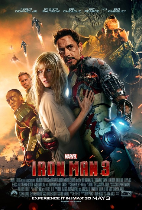 iron man 3 poster tony stark 2013
