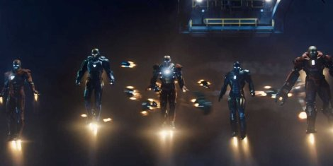 iron man 3 suits flying robots