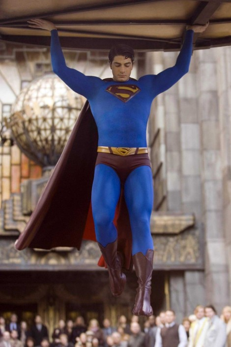 superman returns brandon routh underwear cape