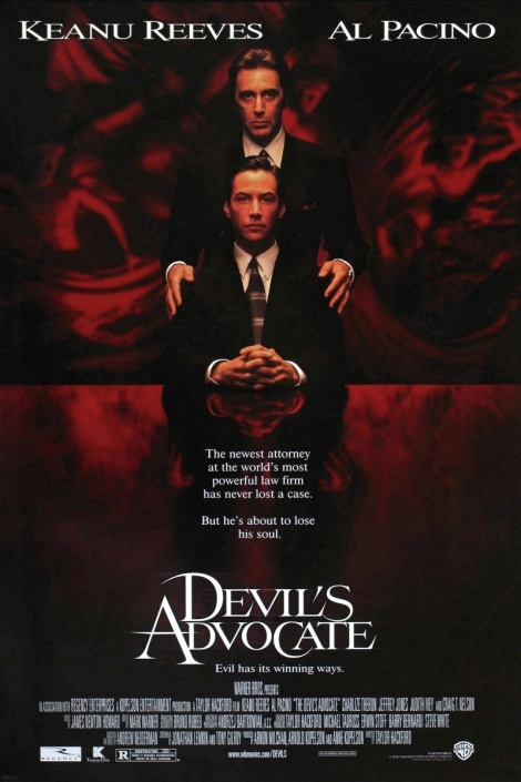 the devil's advocate movie poster al pacino keanu reeves
