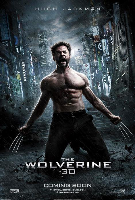 the wolverine movie poster 2013 hugh jacman muscle claws