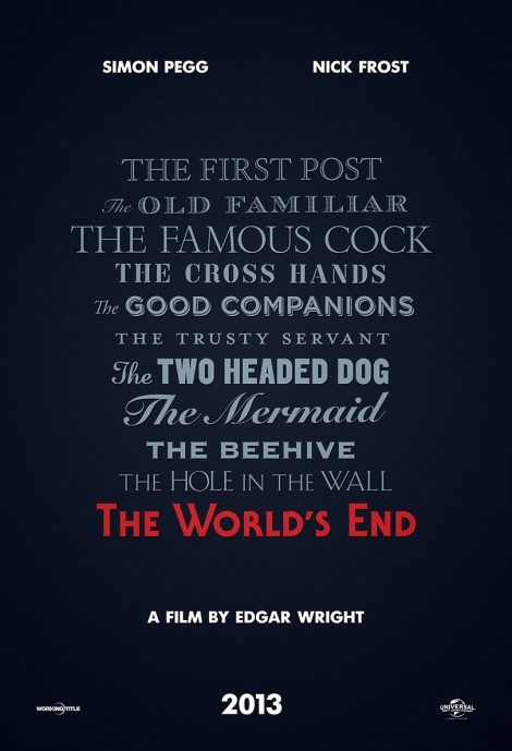 the world's end movie poster edgar wright