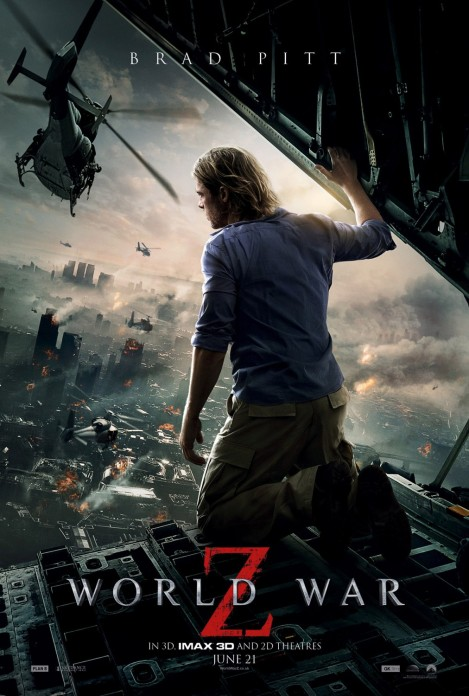 world war z movie poster 2013 brad pitt