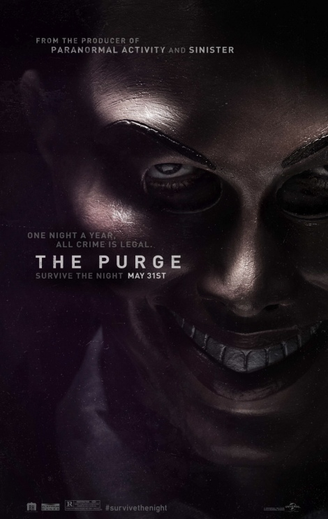 the purge movie poster 2013 ethan hawke mask