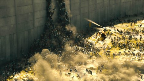 world war z zombie pile wall climb