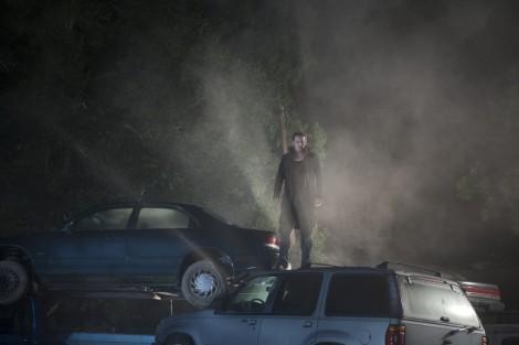 no one lives luke evans car smoke jacket