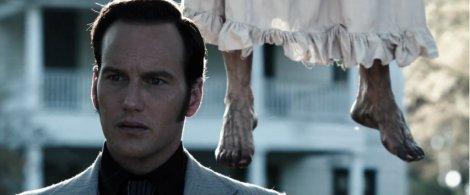 the conjuring movie patrick wilson feet hanging ghost