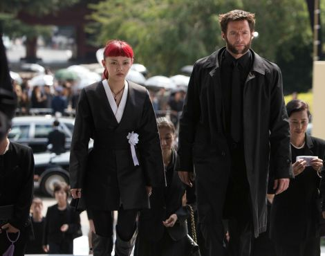 the wolverine hugh jackman Rila Fukushima haircut