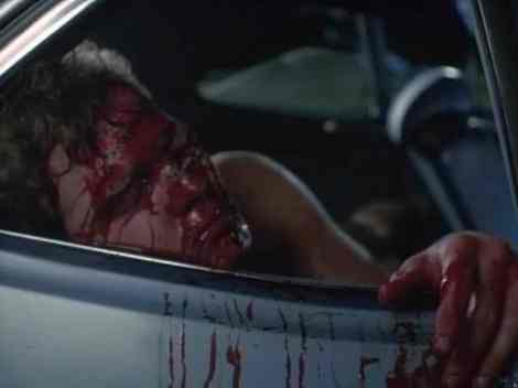 blood rage movie bloody face car