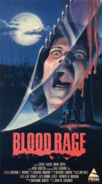 blood rage movie poster vhs cover 1987