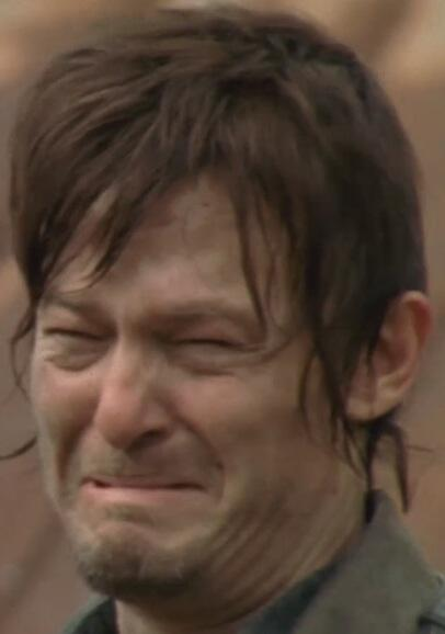 norman reedus crying the walking dead daryl dixon