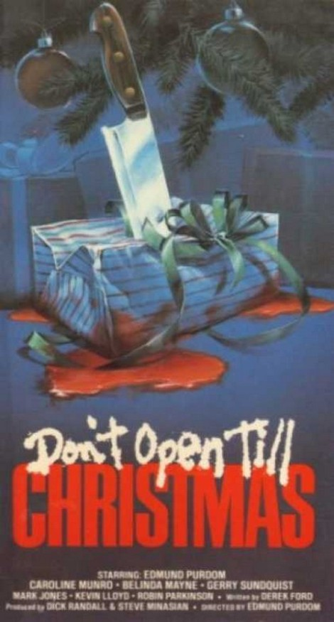don't open till christmas movie poster cover