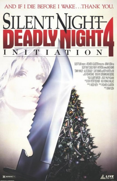 initiation silent night deadly night 4 movie poster cover