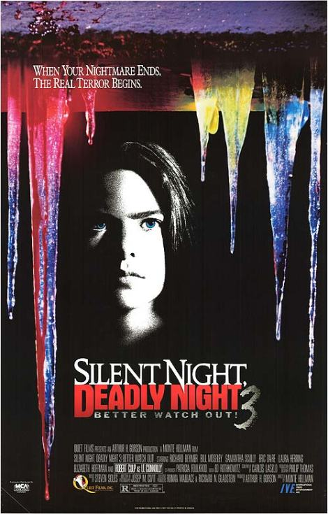 silent night deadly night 3 better watch out movie poster vhs cover