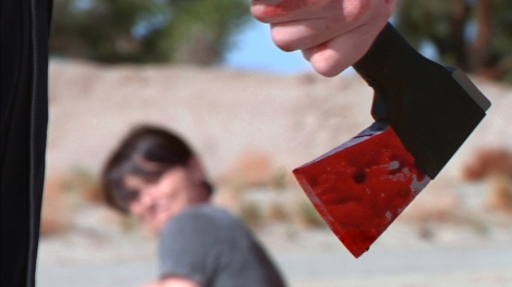 the poisoning movie axe hatchet blood