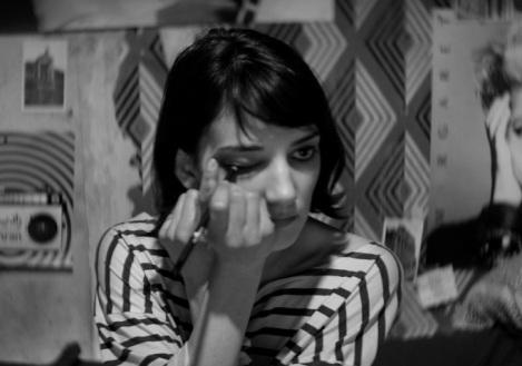 a girl walks home alone at night shiela vand makeup