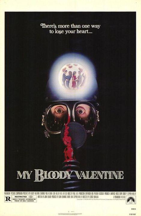 my bloody valentine movie poster 1981