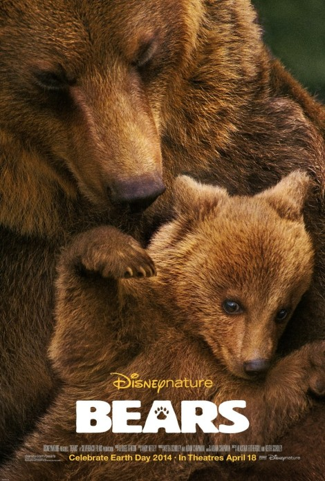 bears movie poster large grizzly disney 2014