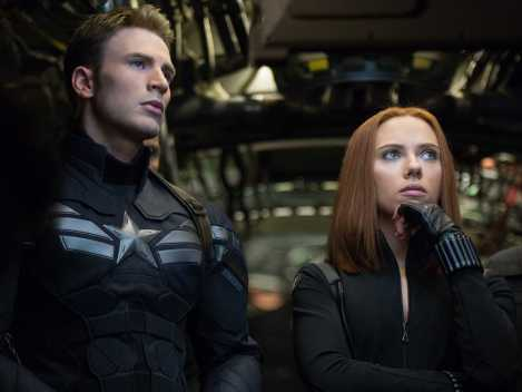 captain america the winter soldier chris evans scarlett johansson hair