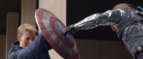 captain america the winter soldier shield punch