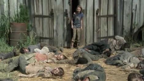 the walking dead sophia barn zombie