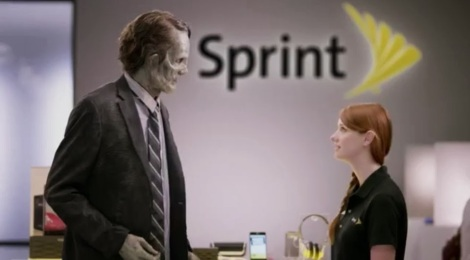 zombie commercial Sprint