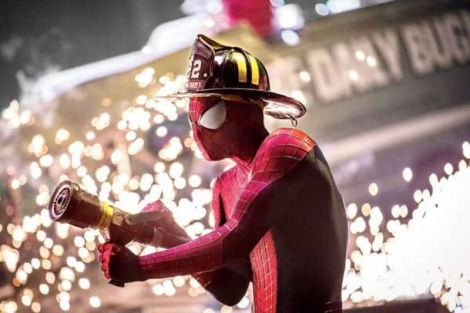the amazing spider-man 2 firefighter hose