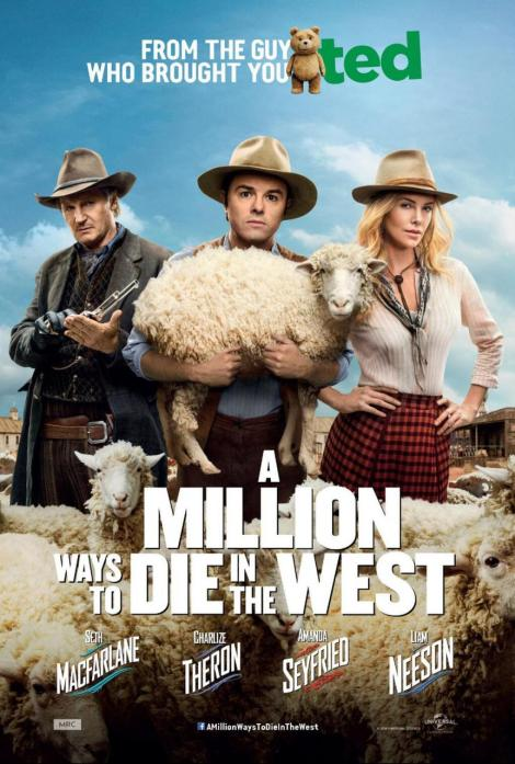 a million ways to die in the west movie poster large