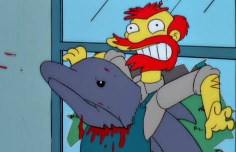 night of the dolphin treehouse of horror xi groundskeeper willie