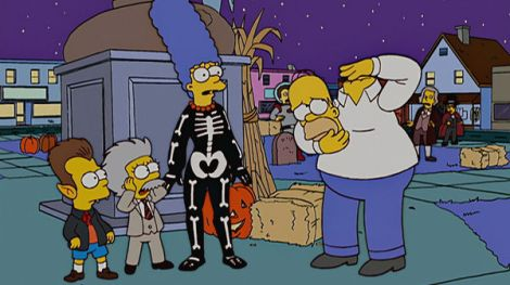 treehouse of horror xvi i've grown a costume on your face simpsons