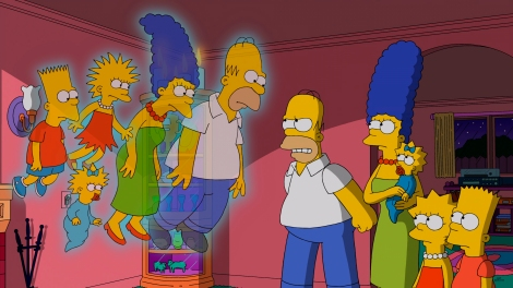 "THE SIMPSONS: Horror film ""The Others"" is spoofed in the all-new ""Treehouse of Horror XXV"" episode of THE SIMPSONS airing Sunday, Oct. 19 (8:00-8:30 PM ET/PT) on FOX. THE SIMPSONS ª and © 2014 TCFFC ALL RIGHTS RESERVED."